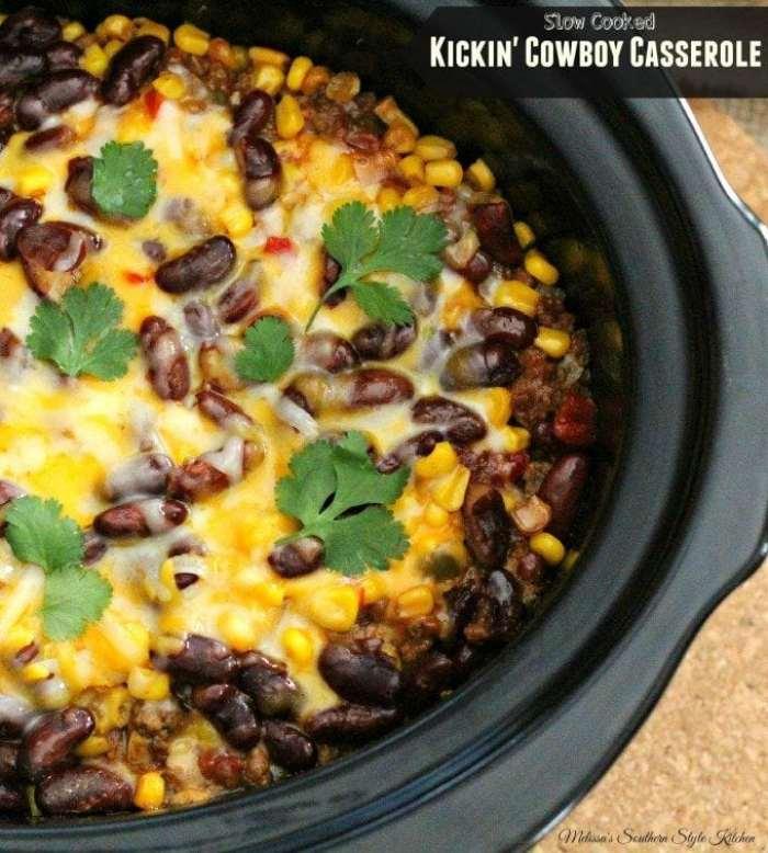 Slow Cooker Kickin' Cowboy Casserole