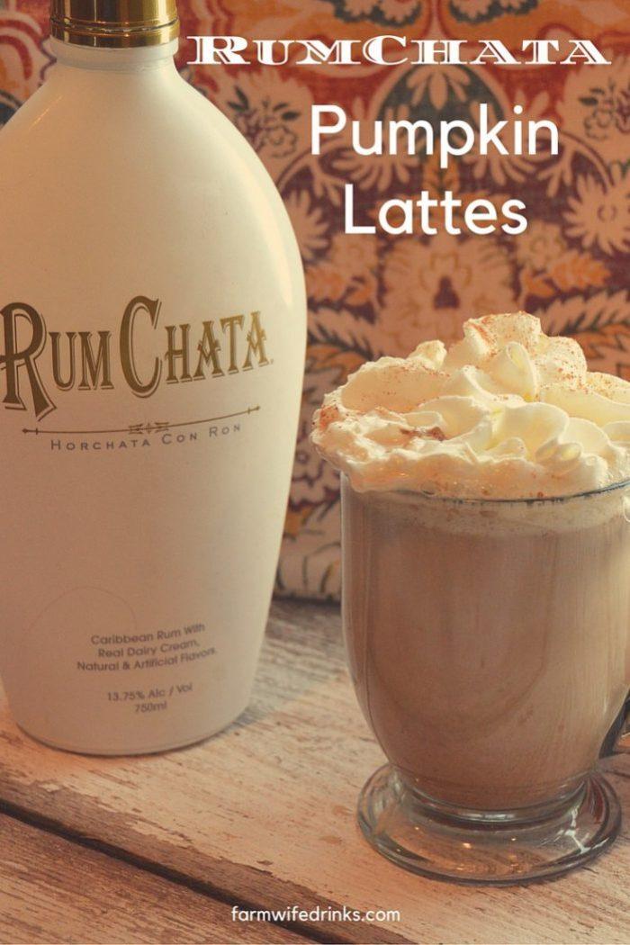 Pumpkin Spice Lattes with Rumchata