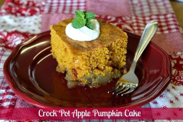Crock Pot Apple Pumpkin Cake