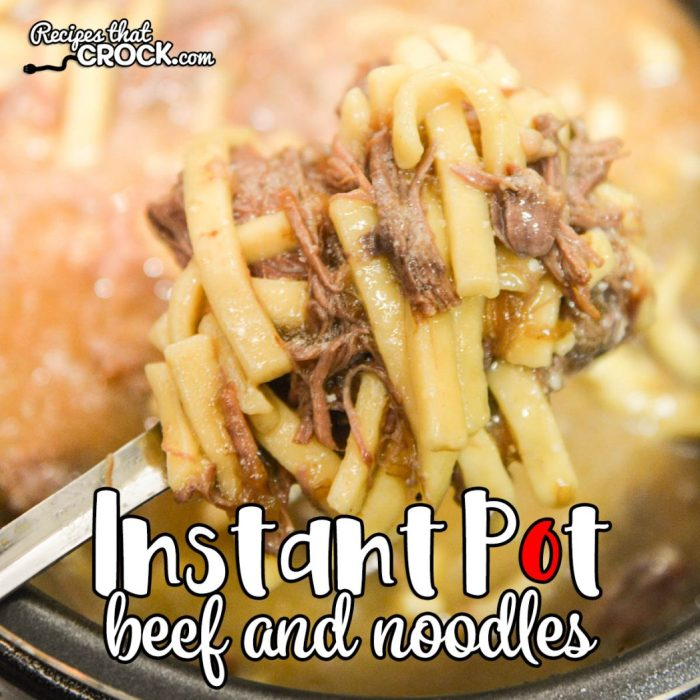 60 Quick And Easy Comfort Food Recipes: Electric Pressure Cooker Beef Noodles
