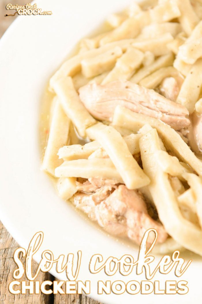 slow cooker chicken noodles  recipes that crock