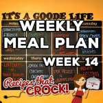 Weekly Meal Plan – Week 14