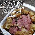 If you love corned beef and cabbage, you are going to flip over this delicious Crock Pot One Pot Corned Beef Cabbage Potato Dinner! So easy and delicious!