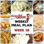 Meal Planning: Weekly Crock Pot Menu 18 (plus Weekly Chat)