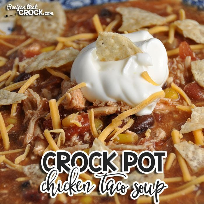 Recipes don't get much easier than this! Even better, this Crock Pot Chicken Taco Soup has a delicious flavor that will have everyone coming back for more!
