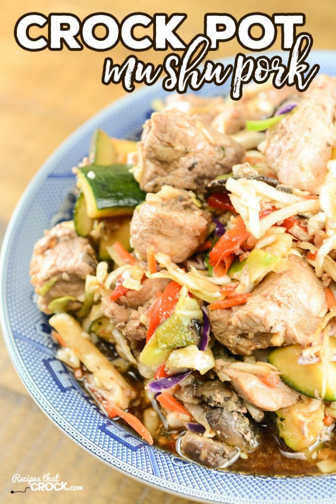 Are you looking for a homemade recipe Mu Shu Pork? This Crock Pot Mu Shu Pork definitely hits the spot!