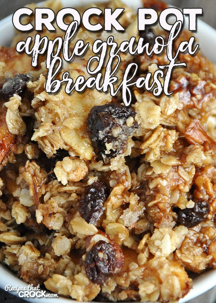 This Crock Pot Apple Granola Breakfast is a yummy way to start you morning! Not only is it easy, it will be loved by everyone!