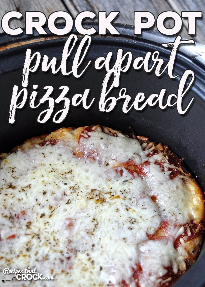 If you need a quick, easy recipe to add some flavor to your Italian night, I havethe recipe for you! This Crock Pot Pull Apart Pizza Bread is awesome!