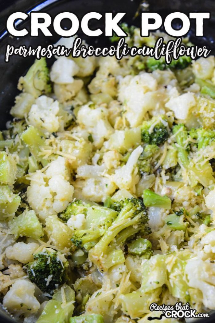 Are you looking for an easy side dish for family dinner? Our Crock Pot Parmesan Broccoli Cauliflower Recipe is a simple side dish with a lot of flavor.