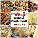 Meal Planning: Weekly Crock Pot Menu 45