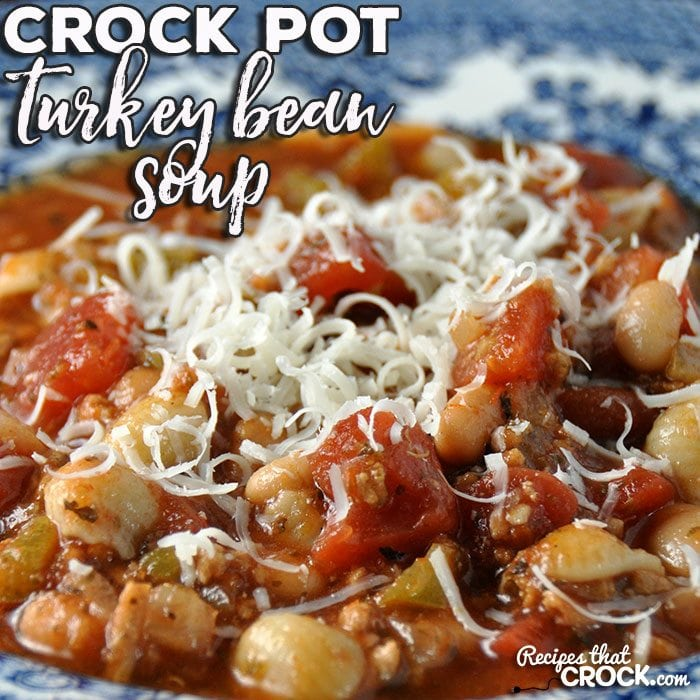 This Crock Pot Turkey Bean Soup is an easy and delicious recipe that will fill your family up and have them asking you to make it again and again!