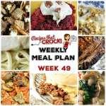 Meal Planning: Weekly Crock Pot Menu 49