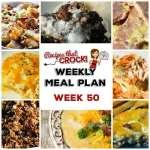 Meal Planning: Weekly Crock Pot Menu 50
