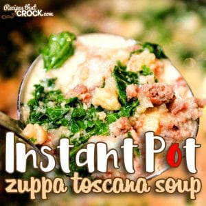 Do you LOVE our Crock Pot Zuppa Toscana Soup as much as we do? Our electric pressure cooker version is just as good and ready in a fraction of the time! Our Instant Pot Zuppa Toscana Soup can be made with traditional ingredients or easily adapted as a low carb recipe. #Ad #RecycleYourCartons#Crockpot #Soup #InstantPot #ElectricPressureCooker #lowcarb #lchf