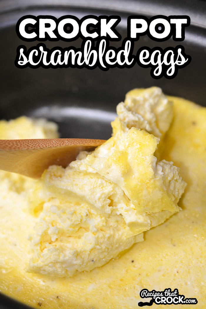 Need an easy way to make scrambled eggs for a crowd? Our Crock Pot Scrambled Eggs Recipe makes the fluffiest flavorful scrambled eggs and your slow cooker does all the work! This recipe is perfect for holiday breakfast or brunch OR to make to reheat for a hot breakfast for the week!