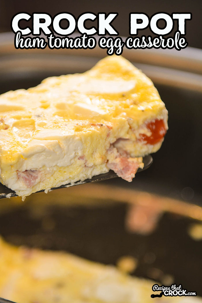 This Crock Pot Ham Tomato Egg Casserole is our go-to breakfast at home and when traveling.This breakfast slow cooker recipe is so easy to throw into the slow cooker and serve up a filling hot breakfast that everyone loves.