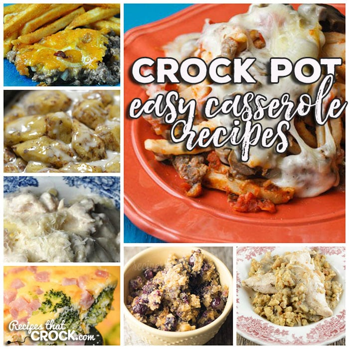 This week for our Friday Favorites we have some Easy Crock Pot Casserole Recipes like Crock Pot Ham Tomato Egg Casserole, Crock Pot Italian Egg Casserole, Crock Pot Ham Broccoli Cheese Casserole, Crock Pot Bacon Egg Cheese Casserole, Crock Pot Chicken Alfredo Ravioli Casserole, Crock Pot Broccoli Cheese Casserole, Crock Pot Taco Ravioli Casserole, Crock Pot Sloppy Joe Casserole, Crock Pot French Onion Beef Casserole, Crock Pot Green Bean Casserole, Crock Pot Pork Chop Rice Casserole, Crock Pot Taco Casserole, Crock Pot Cheesy Chicken Rice Casserole, Crock Pot One-Pot Chicken Casserole, Crock Pot Cheesy Ham Hashbrown Casserole, Crock Pot Bacon Cheeseburger Casserole, Crock Pot Pizza Tater Tot Casserole, Crock Pot Meatball Sub Casserole, Crock Pot Cranberry Orange Roll Casserole, Crock Pot Sausage Egg Casserole, Crock Pot Chicken and Stuffing Casserole, Crock Pot Hamburger Casserole, Crock Pot Southwest Breakfast Casserole, Crock Pot Ravioli Meatball Casserole, Slow Cooker Breakfast Casserole, Crock Pot Blueberry Breakfast Casserole, Crock Pot Chili Cheese Casserole, Crock Pot Cinnamon Roll Casserole, Crock Pot Pizza Casserole and Crock Pot Corn Casserole.