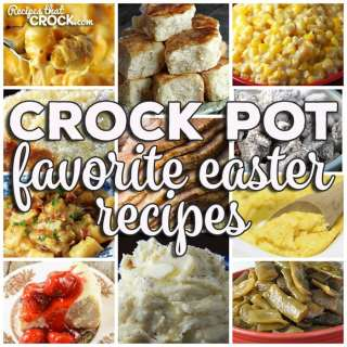 This week for our Friday Favoriteswe have our Favorite Easter Recipes like Cola Crock Pot Ham,Crock Pot Honey Glaze Ham,Crock Pot Brown Sugar Holiday Ham,Easy Crock Pot Ham,Crock Pot Egg Salad, Instant Pot Hard Boiled Eggs, Slow Cooker Mac and Cheese,Crock Pot Spaghetti Squash and Cheese,Crock Pot Parmesan Broccoli Cauliflower,Crock Pot Garlic Parmesan Potatoes,Crock Pot Cheesy Potatoes and Smoked Sausage,Crock Pot Easy Homemade Yeast Rolls,Crock Pot Green Bean Casserole,Crock Pot No Boil Mashed Potatoes,Crock Pot Bacon Taters,Cheese Lover's Crock Pot Shells,Crock Pot Green Beans,Crock Pot Corn Pudding,Homemade Crock Pot Stuffing,Crock Pot Dinner Rolls,Crock PotGerman Potato Salad,Crock Pot Parmesan Cream Corn,Crock PotCheesy Potatoes,Crock Pot Broccoli Cauliflower Casserole,Creamy Crock Pot Mashed Potatoes,Creamy Crock Pot Corn,Crock Pot Parsley Potatoes,Crock Pot Desserts,Homemade Crock Pot Cheesecake,Crock Pot Muddy Buddies,Princess Crock Pot Candy,Crock Pot Strawberry Cream Dump Cake,Crock Pot Glazed Lemon Bread,Crock Pot Cherry Cheesecake Bars,Crock Pot Rice Krispy Treats,Crock Pot Peach-Berry Crisp,Crock Pot Upside-Down Blueberry-Lemon Cake,Easy Crock Pot Peach Cobbler,Crock Pot Strawberry Shortcake,Easy Crock Pot Caramel Pie and Crock Pot Strawberry Vanilla SpoonCake.