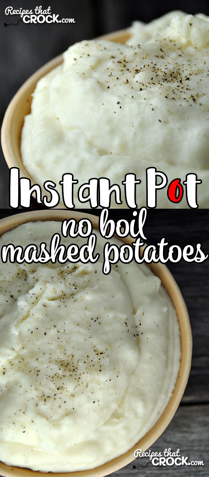 If you are looking for a super easy way to make up a big ol' batch of delicious and creamy mashed potatoes on a busy weeknight or chaotic weekend? This Instant Pot No Boil Mashed Potatoes recipe is just what you need! Yum!
