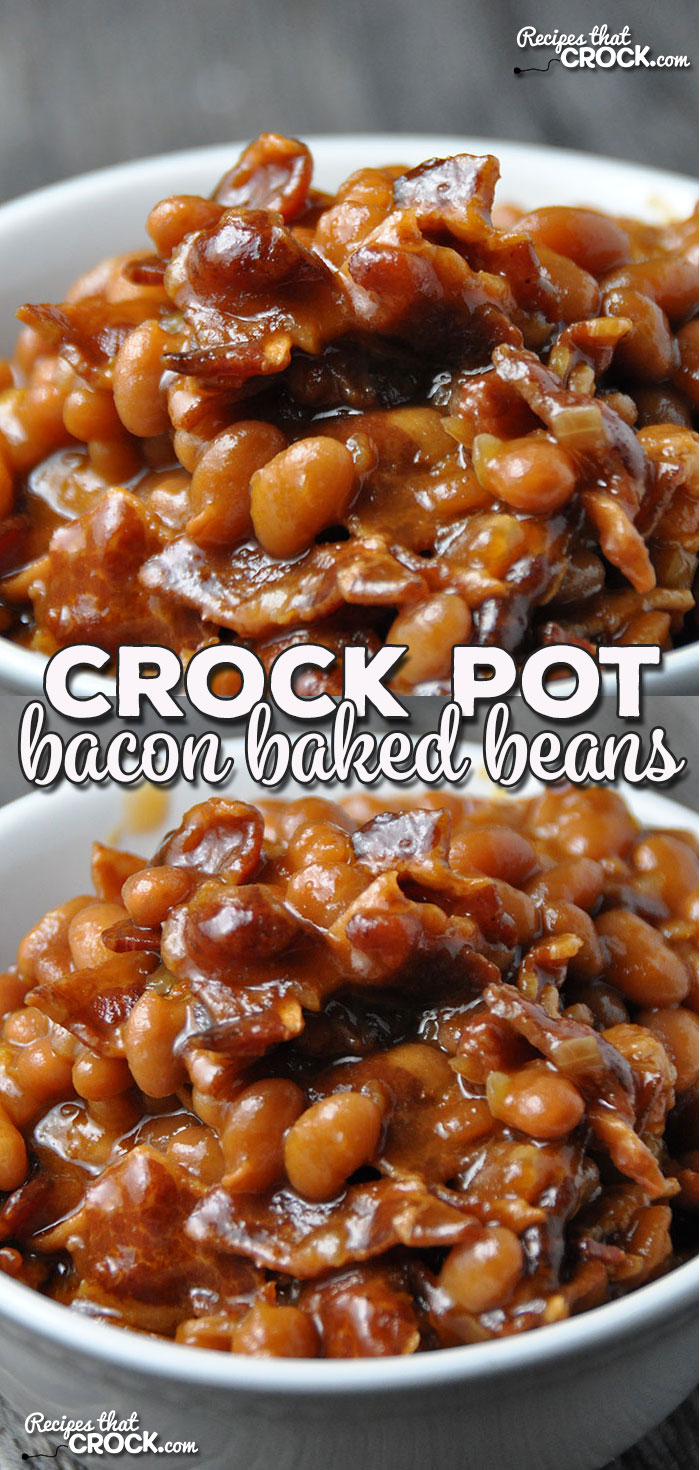 This Crock Pot Bacon Baked Beans recipe submitted by one of our readers is the perfect side to bring to a potluck or barbecue. It would also be a great complement to your own weeknight meal! via @recipescrock
