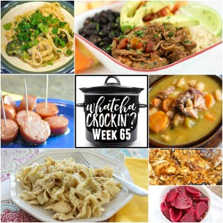 This week's Whatcha Crockin' crock pot recipes include Crock Pot Chicken and Noodles, Crock Pot Chipotle Shredded Beef, Instant Pot Ham and Beans, Quick and Easy Crock Pot BBQ Chicken, Slow Cooker Thai Chicken, Crock Pot Smoked Sausage Bites, Slow Cooker Beets and much more!