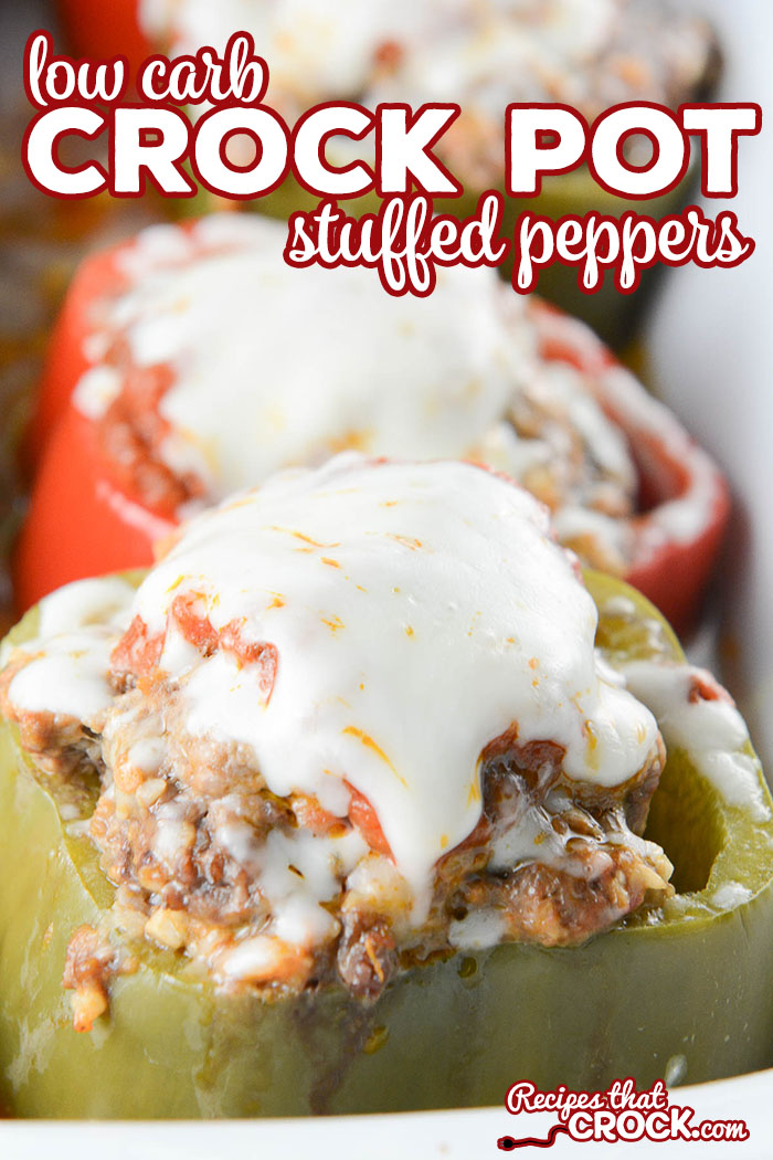 Are you looking for a low carb alternative to Stuffed Peppers? This incredible low carb version of Crock Pot Stuffed Peppers is so good no one will ever miss the carbs!