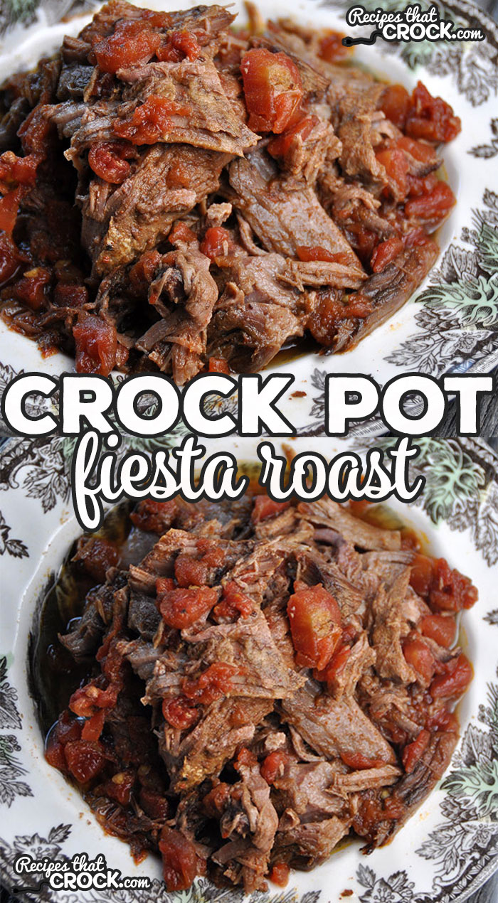If you are looking for recipe that is sure to impress your company, then you have to try this Fiesta Crock Pot Roast! It is super super simple to make, can be made overnight or crock all day while you are at work.