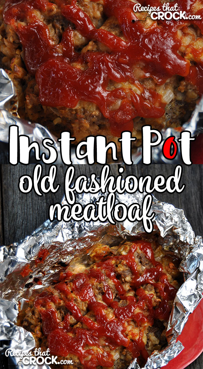 Need dinner in a hurry? This Instant Pot Old Fashioned Meatloaf takes our tried and true, super simple Old Fashioned Meatloaf recipe and turns it into an Instant Pot recipe!