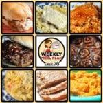 This week's weekly menu featuresCrock Pot Chicken Alfredo, Oh-So-Flavorful Pork Roast,Easy Pork Chop Tomato Rice,Crock Pot Shredded Beef Sandwiches (Virginia Style),Crock Pot Cheesy Chicken Fajita Noodle Soup,Crock Pot Pizza Burgers,Crock Pot Cheesy Chicken Cauliflower Casserole,Crock Pot Fiesta Cheese Dip,Crock Pot Cinnamon Roll Mixed Berry Cobbler andCreamy Crock Pot Oatmeal Recipe.
