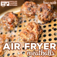 Are you looking for an easy way to make homemade meatballs? Our Air Fryer Meatballs are quick and simple to make AND our air fryer recipe is low carb!