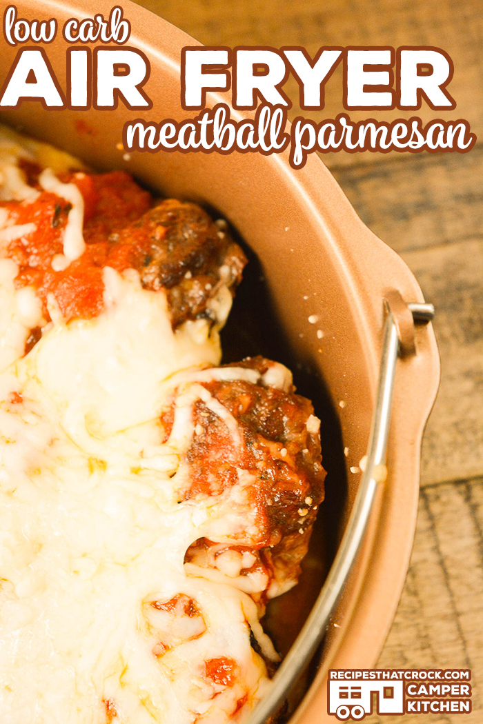Are you looking for an easy way to make homemade meatballs? Our Air Fryer Meatballs are quick and simple to make AND our air fryer recipe is low carb! Eat them as is or make them into Low Carb Air Fryer Meatball Parmesan. Yum!