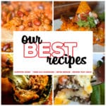 Are you looking for a new ground beef recipe? These quick and easy ground beef recipes are some of the best! This collection of 8 Great Ground Beef Recipes includes family dinner ideas like Cowboy Beans, Taco Bake, Meatballs, Shepherd's Pie and more!