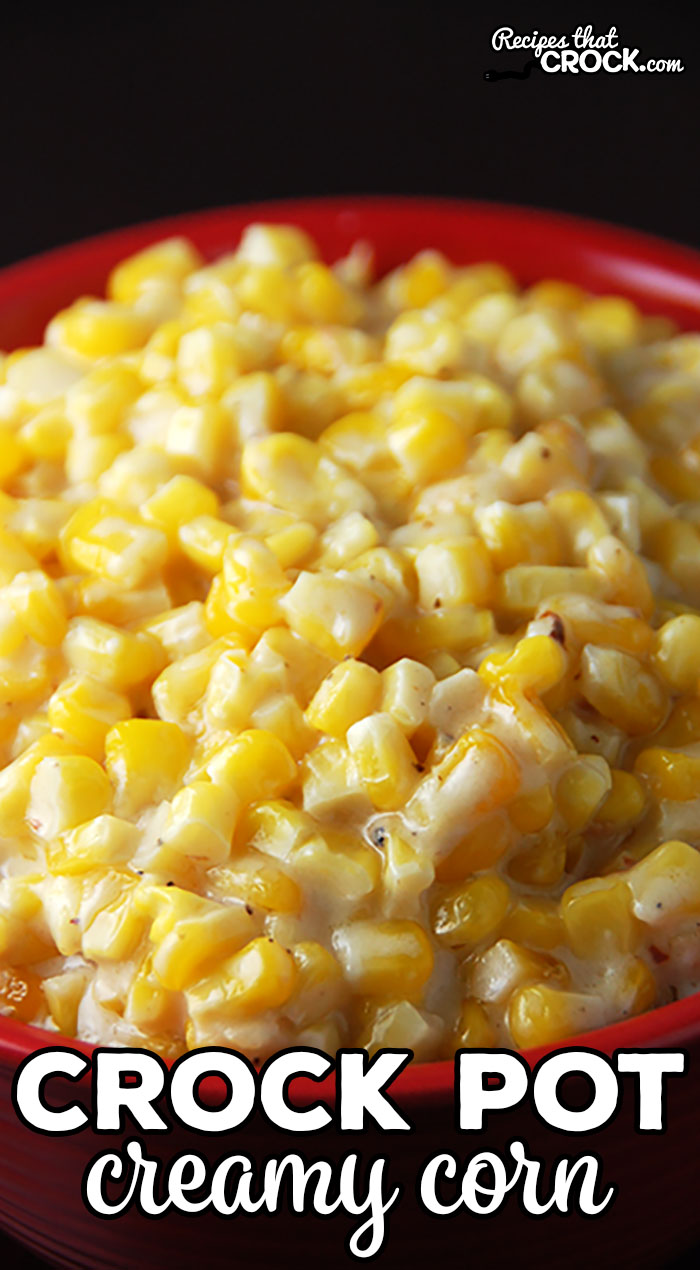 Creamy Crock Pot Corn is THE BEST corn side dish and so simple to make! The slow cooker does all the work. Perfect for the holidays, potlucks, picnics or a treat for a weeknight meal.