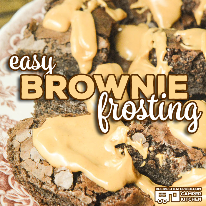 Are you looking for a simple way to dress up a boxed brownie mix? Our Easy Brownie Frosting Recipe is only 2 ingredients, doesn't require a mixer and will make any box brownie better! These boxed brownies look bakery bought!
