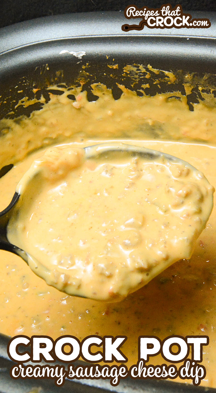 Our Crock Pot Creamy Sausage Cheese Dip is a great dip for parties or topping for a delicious taco salad or taco bar!