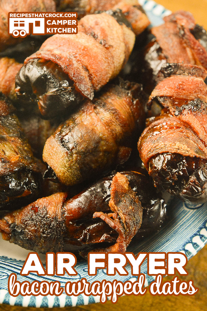 Our Air Fryer Bacon Wrapped Dates are an easy flavorful appetizer you can make in your air fryer or Ninja Foodi using the air crisp feature. Great Medjool Date Recipe!