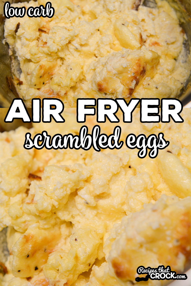 Did you know that you can make incredibly fluffy scrambled eggs in an air fryer or Ninja Foodi?Our Air Fryer Scrambled Eggs are an easy way to make our popular Crock Pot Scrambled Eggs quicker. via @recipescrock