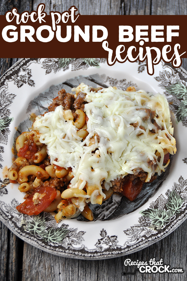 Are you looking for Easy Ground Beef Recipes for your crock pot, instant pot, air fryer or oven? Here is a list of our tried and true favorites including low carb dishes like Stuffed Pepper Soup, Taco Chili and Crustless Pizza, as well as kid-friendly recipes such as Chili Mac Casserole, Sloppy Joe Soup and Taco Tater Tot Casserole via @recipescrock