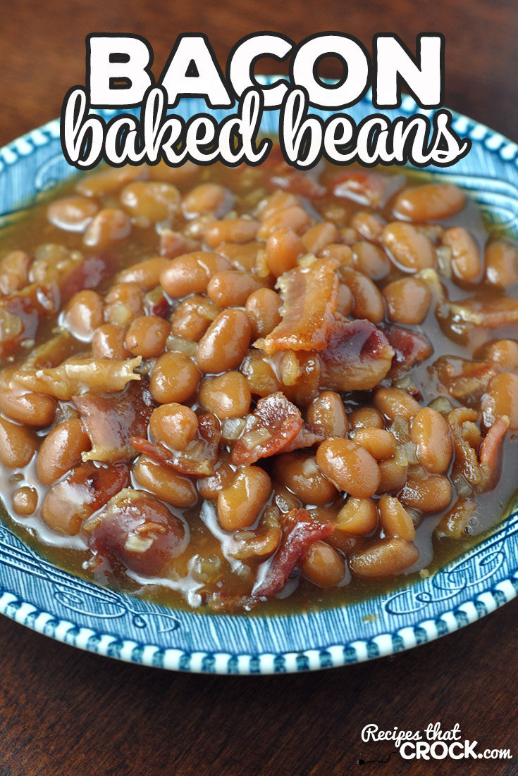 This Bacon Baked Beans recipe for your stove top is adapted from our reader favorite Crock Pot Bacon Baked Beans recipe. Easy and delicious! via @recipescrock