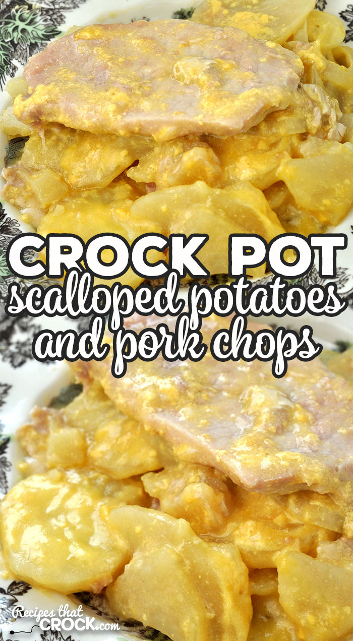 If you love delicious comfort food, then you don't want to miss this Crock Pot Scalloped Potatoes and Pork Chops recipe. It is so yummy and filling! via @recipescrock