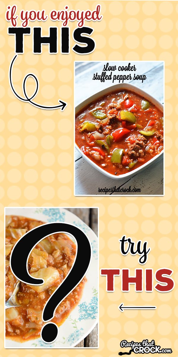 If you liked our Slow Cooker Stuffed Pepper Soup, we would recommend that you try another hearty soup recipe that our readers just love. Both of these soups have amazing flavors but are way easier to make than the dishes they are named after.  via @recipescrock