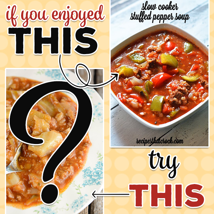 If you liked our Slow Cooker Stuffed Pepper Soup, we would recommend that you try another hearty soup recipe that our readers just love. Both of these soups have amazing flavors but are way easier to make than the dishes they are named after.