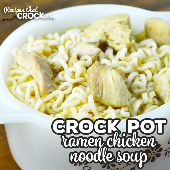 This Ramen Crock Pot Chicken Noodle Soup is simple, cheap, delicious and filling! You are going to love this wonderful recipe!