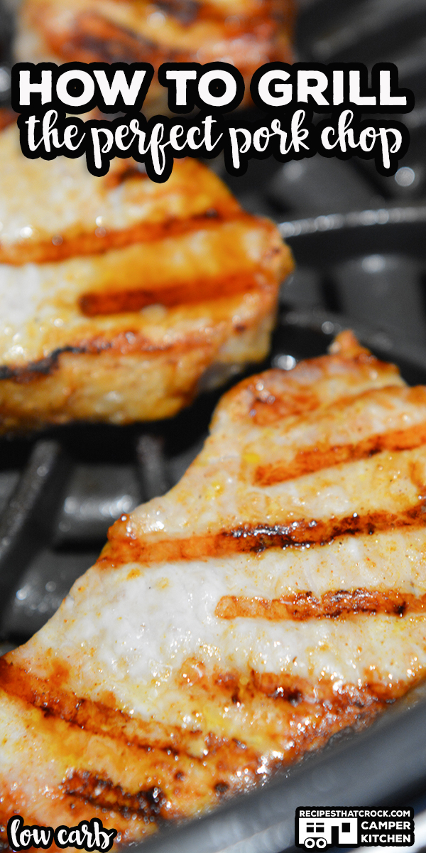 Learning how to grill pork chops on the Ninja Foodi Grill or traditional outdoor grill is super simple. Our easy fail-proof method gives you tender juicy boneless pork chops every time! This also makes for a great low carb meal! via @recipescrock