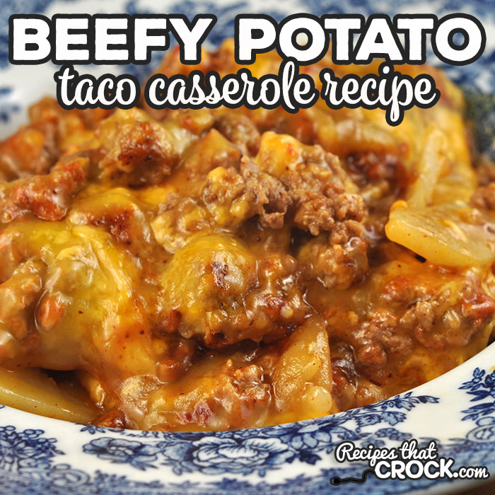 This Beefy Potato Taco Casserole is the oven version of one of reader favorite crock pot recipes. It is a delicious dish that everyone loves!