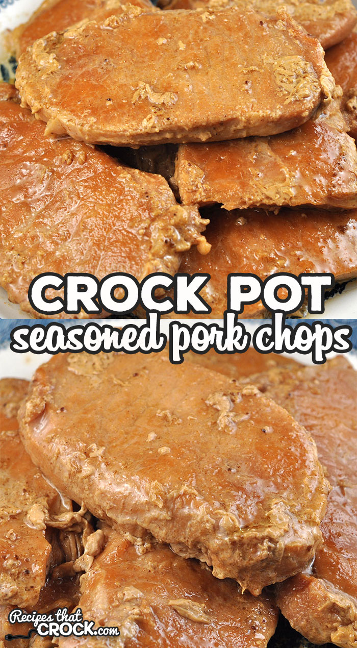 This Crock Pot Seasoned Pork Chops is super simple to throw together. Even though it is simple, the flavor is incredible! You will love it! via @recipescrock