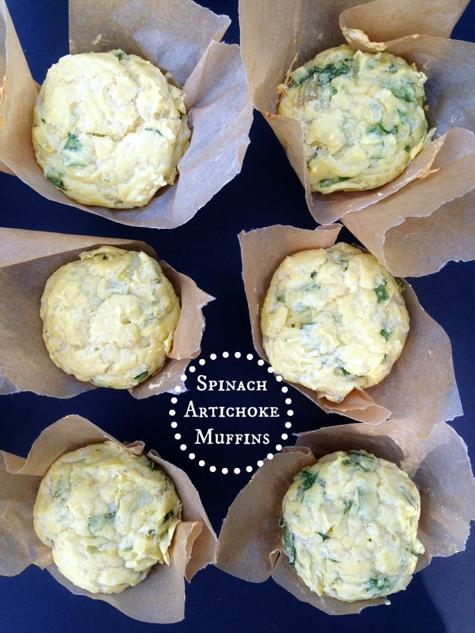 Spinach Artichoke Muffins | Real Food Outlaws
