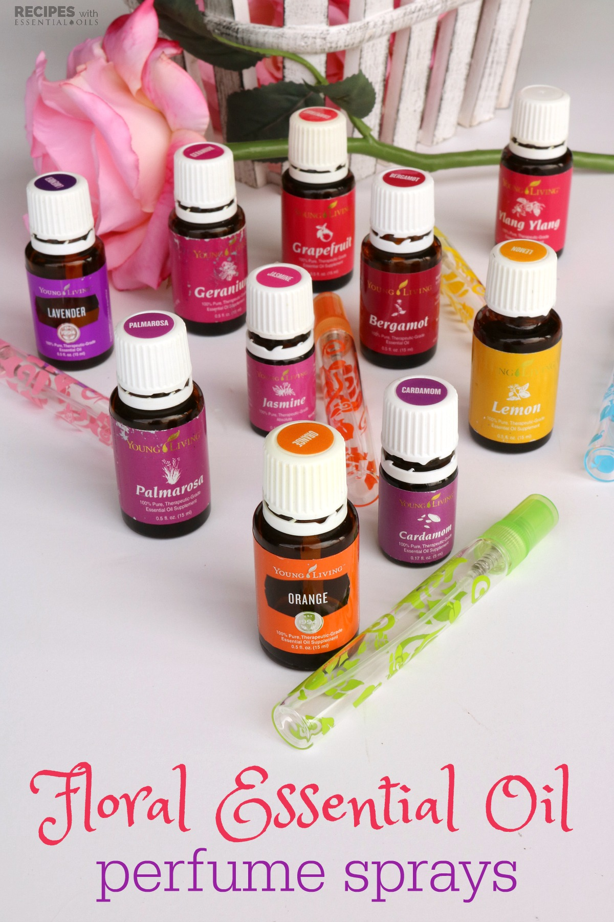 4 Floral Essential Oil Perfume Sprays - Recipes with ...