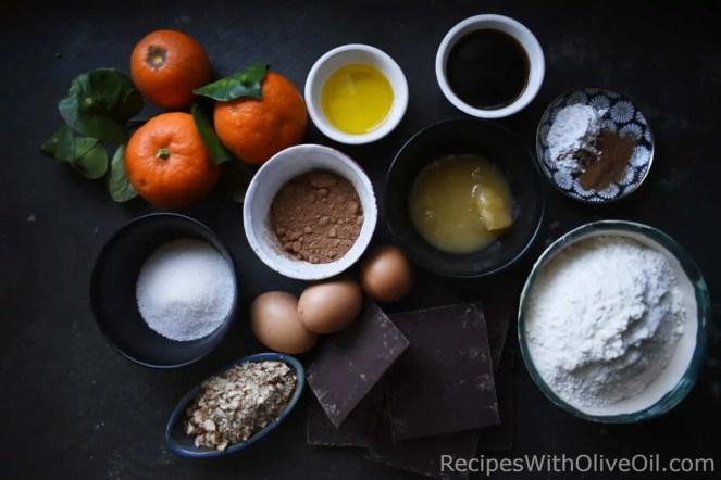 ingredients for italian mostaccioli cookies mustazzoli recipe