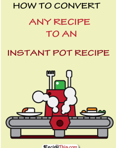 Instantpot how to convert any recipe the instant pot pressure cooker also rh recipethis